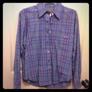 Cruel Girl blue plaid S shirt like new condition